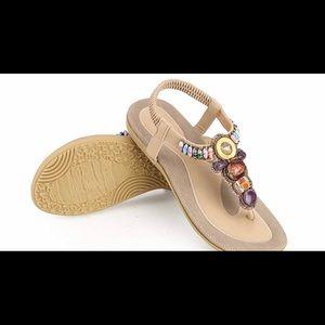Brand new Zicac Bohemian Rhinestone Thong Sandals